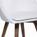 Corsica White Leatherette Swivel Modern Dining Side Chair with Removable Cushion