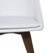 Corsica White Leatherette European Swivel Modern Dining Side Chair Detail