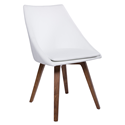 Calla White Swivel European Modern Faux Leather Dining Chair