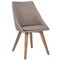 Calla Dark Gray Modern Dining Side Chair