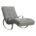 Callaway Modern Gray Rocking Chaise Lounge