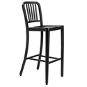 Cafe Modern Classic Brushed Black Bar Stool