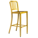 Cafe Modern Classic Brushed Brass Bar Stool