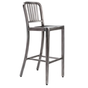 Cafe Modern Classic Brushed Nickel Bar Stool