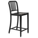 Callie Modern Classic Brushed Black Counter Stool