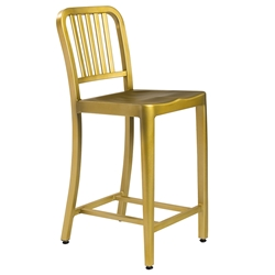 Cafe Modern Classic Brushed Brass Counter Stool