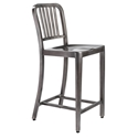 Callie Modern Classic Brushed Nickel Counter Stool