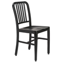 Cafe Modern Brushed Black Dining Chair