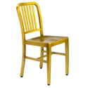 Cafe Modern Brushed Brass Dining Chair