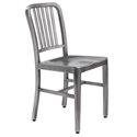 Cafe Modern Brushed Nickel Dining Chair