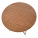 Calloway Modern Round Walnut End Table Top Detail