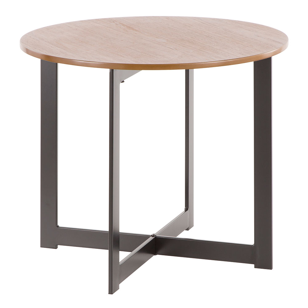 Calloway Modern Round Walnut End Table