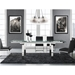 Calvert Steel + Glass Modern Extension Dining Table - Lifestyle