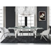 Calvert Steel + Glass Modern Extension Dining Table - Lifestyle 2