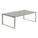 Calvin Modern Coffee Table w/ Glass Top by sohoConcept