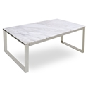 Calvin Modern Coffee Table w/ White Marble Top by sohoConcept