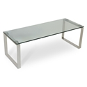 Calvin Modern Condo Coffee Table w/ Glass Top by sohoConcept