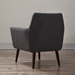 Calypso Gray Linen + Black Wood Modern Arm Chair
