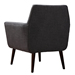 Calypso Gray Linen + Black Wood Vintage Modern Arm Chair