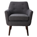 Calypso Gray Linen Contemporary Lounge Chair
