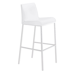 Cam Modern White Bar Stool