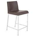 Cam Modern Counter Stool in Brown