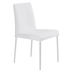 Cam Modern White Dining Chair