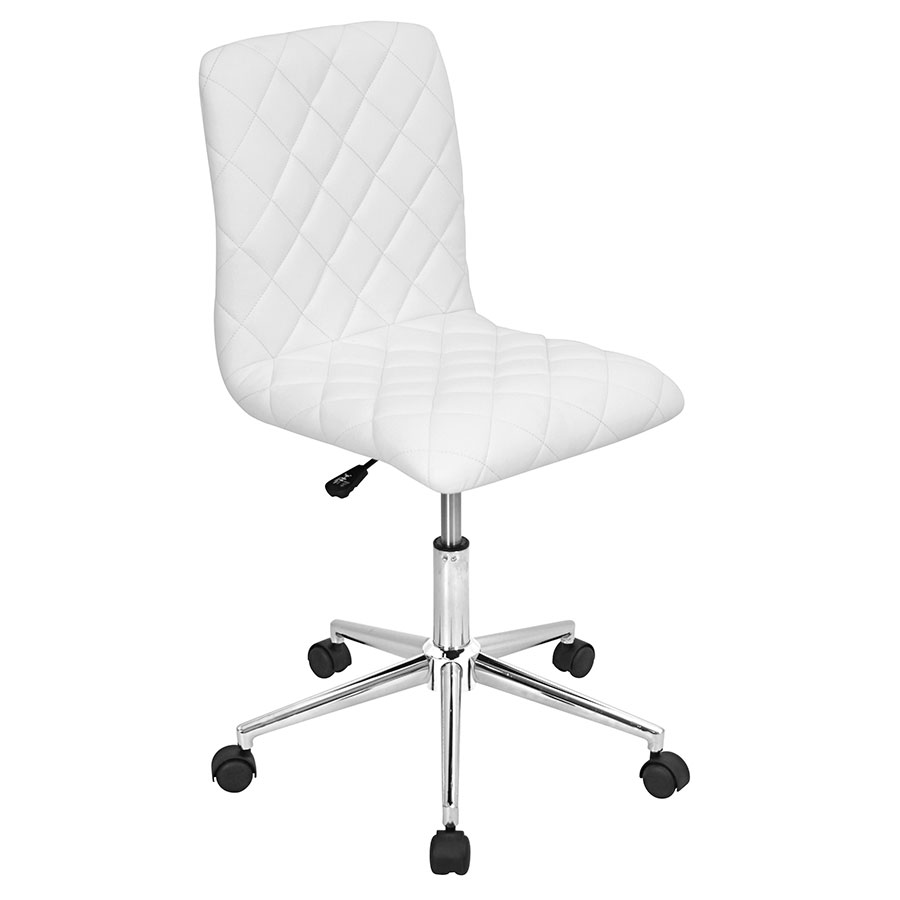 Camella White Modern Office Chair