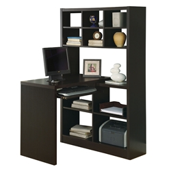 Cameron Cappuccino Reversible Modern Desk Left