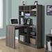 Cameron Dark Taupe Reversible Contemporary Desk