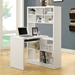 Cameron White Reversible Modern Desk Left Room