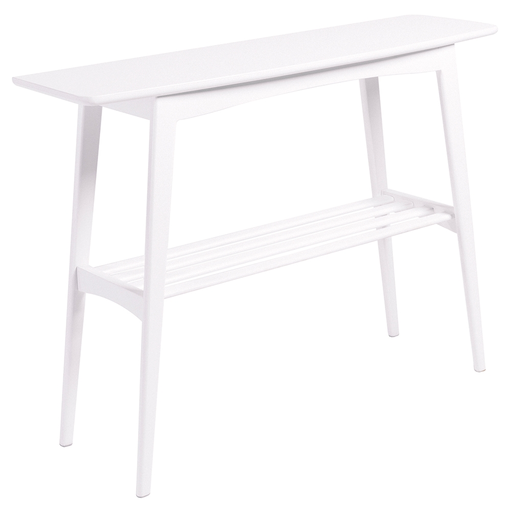 White sofa table Farmhouse Carmela Contemporary Matte White Console Table Eurway Modern Console Tables Sofa Tables Eurway Furniture