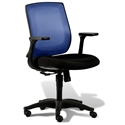 Cayman Modern Blue/Black Office Chair