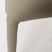 Camille Taupe Leatherette Modern Side Chair Detail