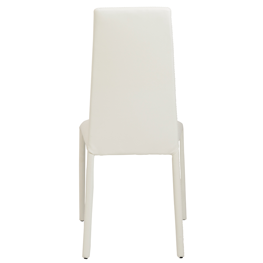 Camille White Modern Side Chair