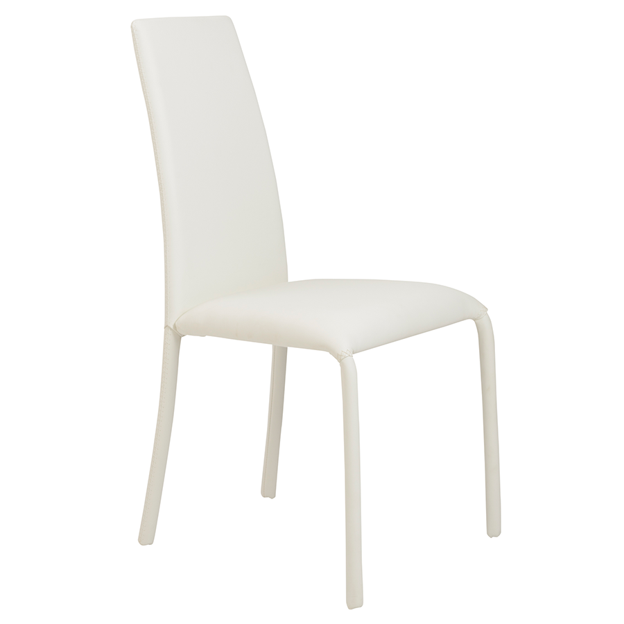 Camille white modern dining chair eurway furniture for White dining chairs modern