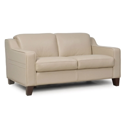 Campbell Modern Leather Loveseat