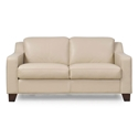 Campbell Contemporary Leather Loveseat