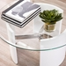 Canada Modern White + Glass Top Coffee Table