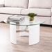 Canada Modern White + Glass Top Cocktail Table