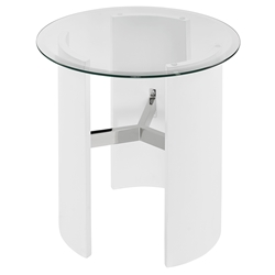 Canada Modern White End Table