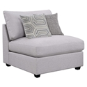 Candice Modern Gray Armless Chair