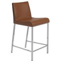 Cam Modern Counter Stool in Cognac
