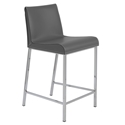 Candice Modern Counter Stool in Gray