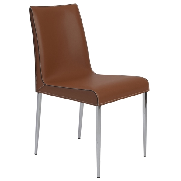 Candice Modern Cognac Dining Chair