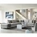 Candice Contemporary Sectional with Storage Ottoman in Gray