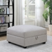 Candice Contemporary Gray Storage Ottoman