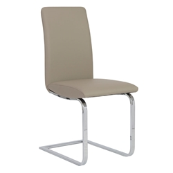 Candide Taupe Modern Dining Side Chair