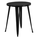"Canfield 24"" Round Black Modern Outdoor Dining Table"