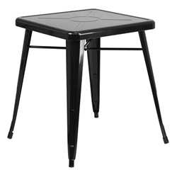 "Canfield 24"" Square Black Modern Outdoor Dining Table"